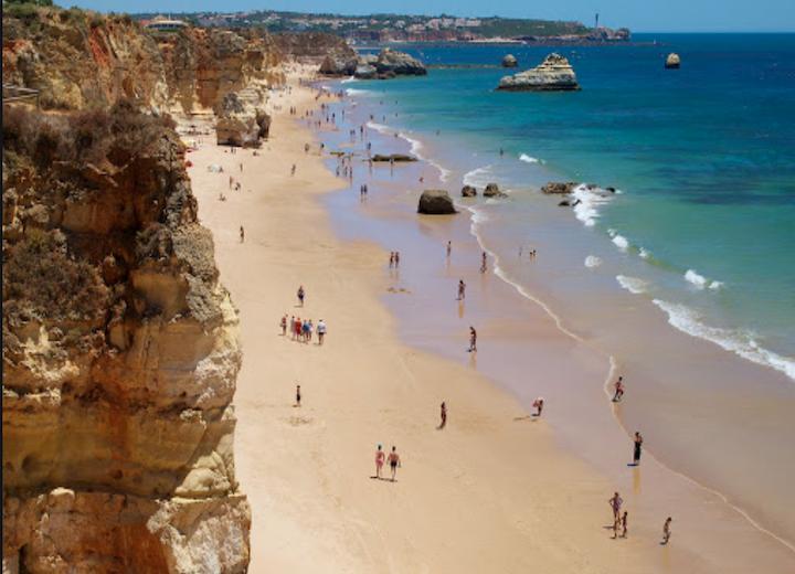 Praia de Rocha Beach Portimao Algarve