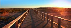 Algarve longest Boardwalk at Alvor beach